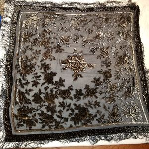 Black & bronze women's shawl. Excellent condition.